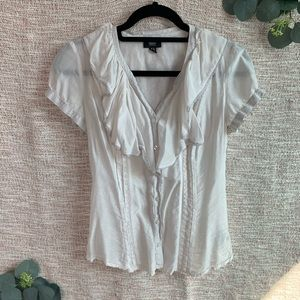 [lacey] Distressed Button Down Blouse